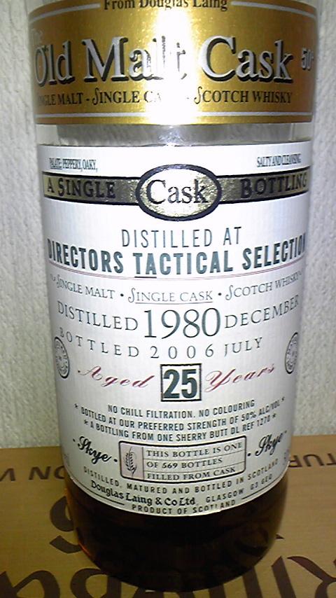 タリスカー Talisker 25yo 1980/2006 (50%, DL OMC, 'Tactical', REF1270, Sherry, 569 Bts.)