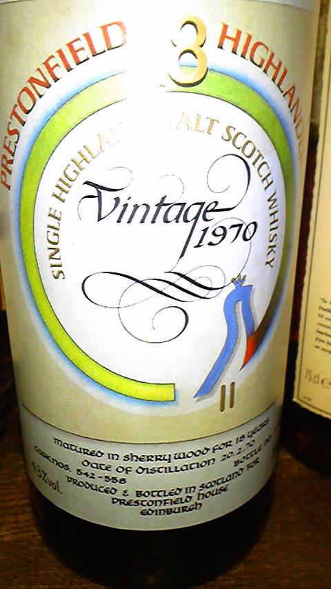 グレンドロナック Glendronach 18yo 1970 (43%, The Prestonfield, C#542-558, 75cl)