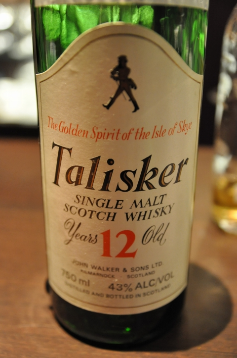 タリスカー Talisker 12yo (43%, OB, Gold screw cap, 'The Golden Spirit of the Isle of Skye' , Johnnie Walker Label, +/-1980)