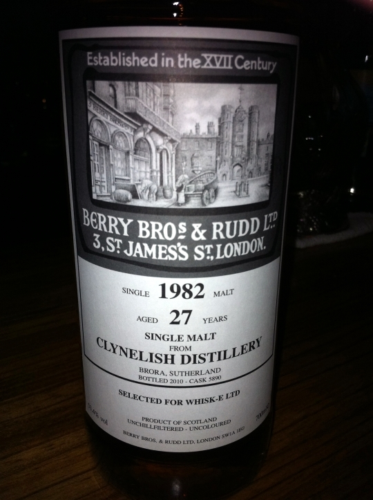 クライネリッシュ Clynelish 1982/2010  (53.4%  BBR  Selected for WHISK-E LTD C#5890)