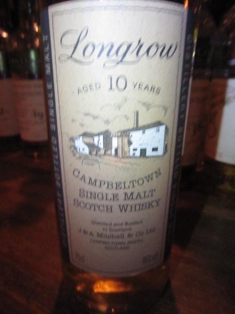 ロングロウ Longrow 10yo (46%, OB,Tall bottle)