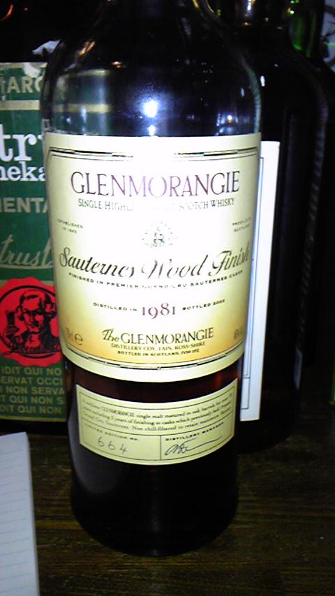 グレンモーレンジ Glenmorangie 21yo 1981/2002 Sauternes Finish (46%, OB) Btl no. 664