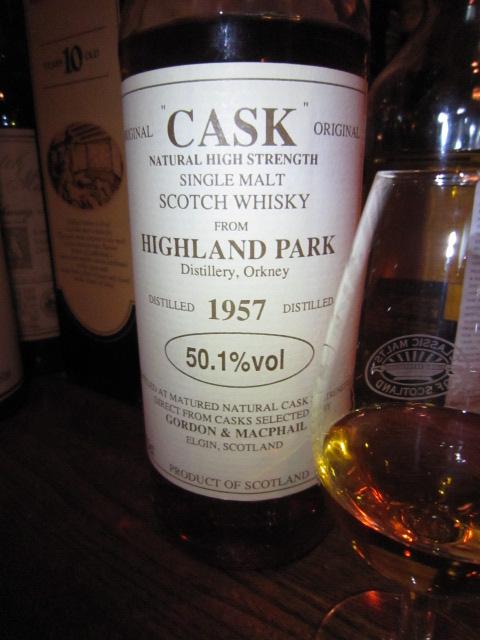 ハイランドパーク Highland Park 1957 (50.1%, G&M Cask Selection, C#598)  70CL