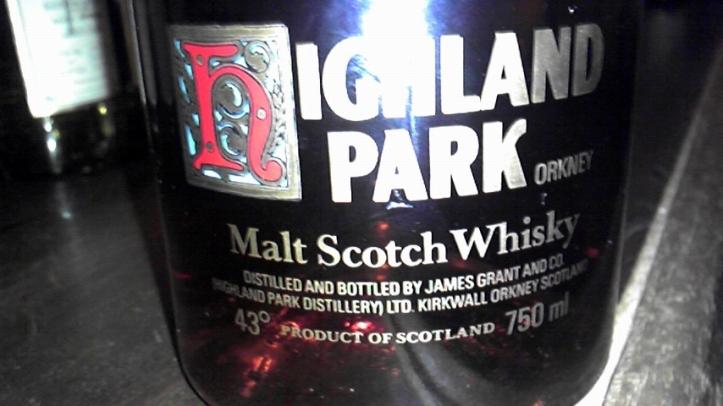 ハイランドパーク Highland Park 12 yo (43%, OB, silk label, ornamental H,1980s)