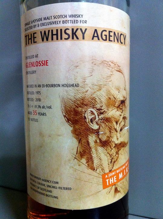 """グレンロッシー Glenlossie 35yo 1975/2010 (49.3%, Whisky Agency, """"Anatomy"""", 151 Bts.) 2010  A JOINT BOTTLING WITH """"THE M.I.K.E."""""""