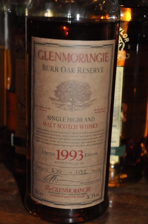 グレンモーレンジ Glenmorangie 1993/2004 'Burr Oak' (56.3%, OB, 270/1152 Bts.)  BURR OAK RESERVE