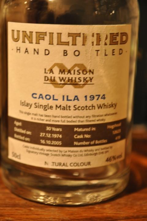 カリラ Caol Ila 30yo 1974/2005 (46%, LMdW, Dumpy, C#12623, 419 Bts.) Unfiltered Hand Bottled , 50CL