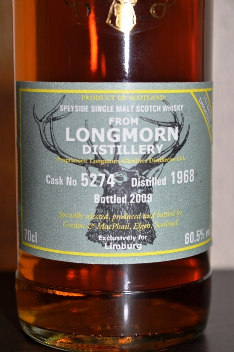 ロングモーン Longmorn(-Glenlivet) 1968/2009 (60.5%, G&M Reserve Exclusive for Limburg C#5274)