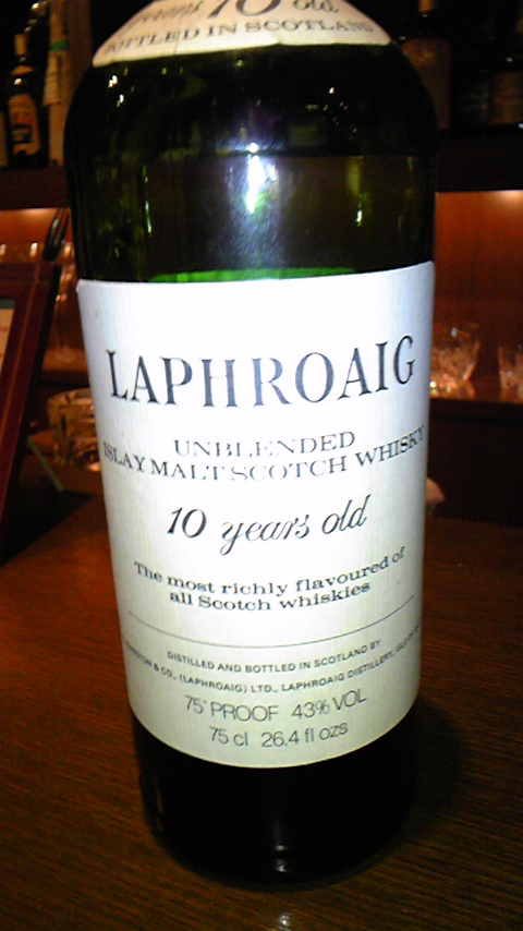 ラフロイグ Laphroaig 10yo (43%, 75Proof,OB, Unblended,75CL)