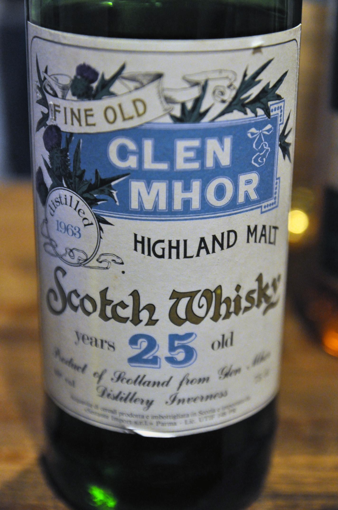 グレンモール Glen Mhor 25yo 1963 (40.0%, Sestante, 75cl)