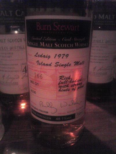 レダイグ Ledaig 1979 (48.1%, OB, burn stewart by Billy Walker)