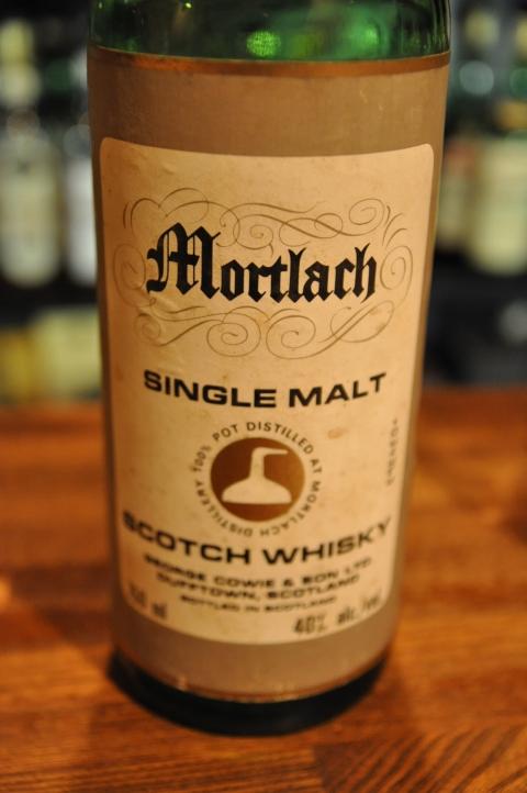 モートラック  Mortlach NAS (40%, OB(G&M) for G. Cowie & Sons, John Walker & SONS, flask, 1980s?) Grey framed label & Still