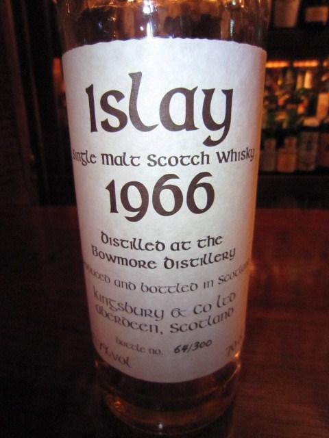 ボウモア Bowmore  Islay  35yo 1966 (43.7%, Kingsbury, 64/300 Bts.)  70CL  ケルティック