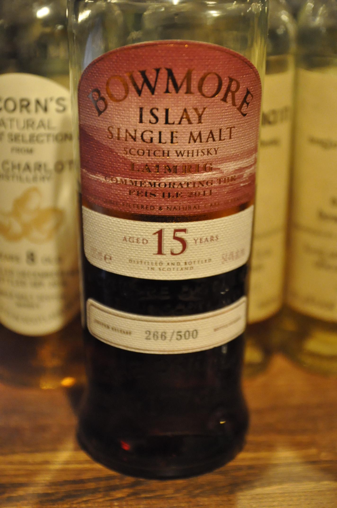 """ボウモア Bowmore 15yo  """"LAIMRIG""""  Feis Ile 2011 (51.4%, OB, 266/500 bts)"""
