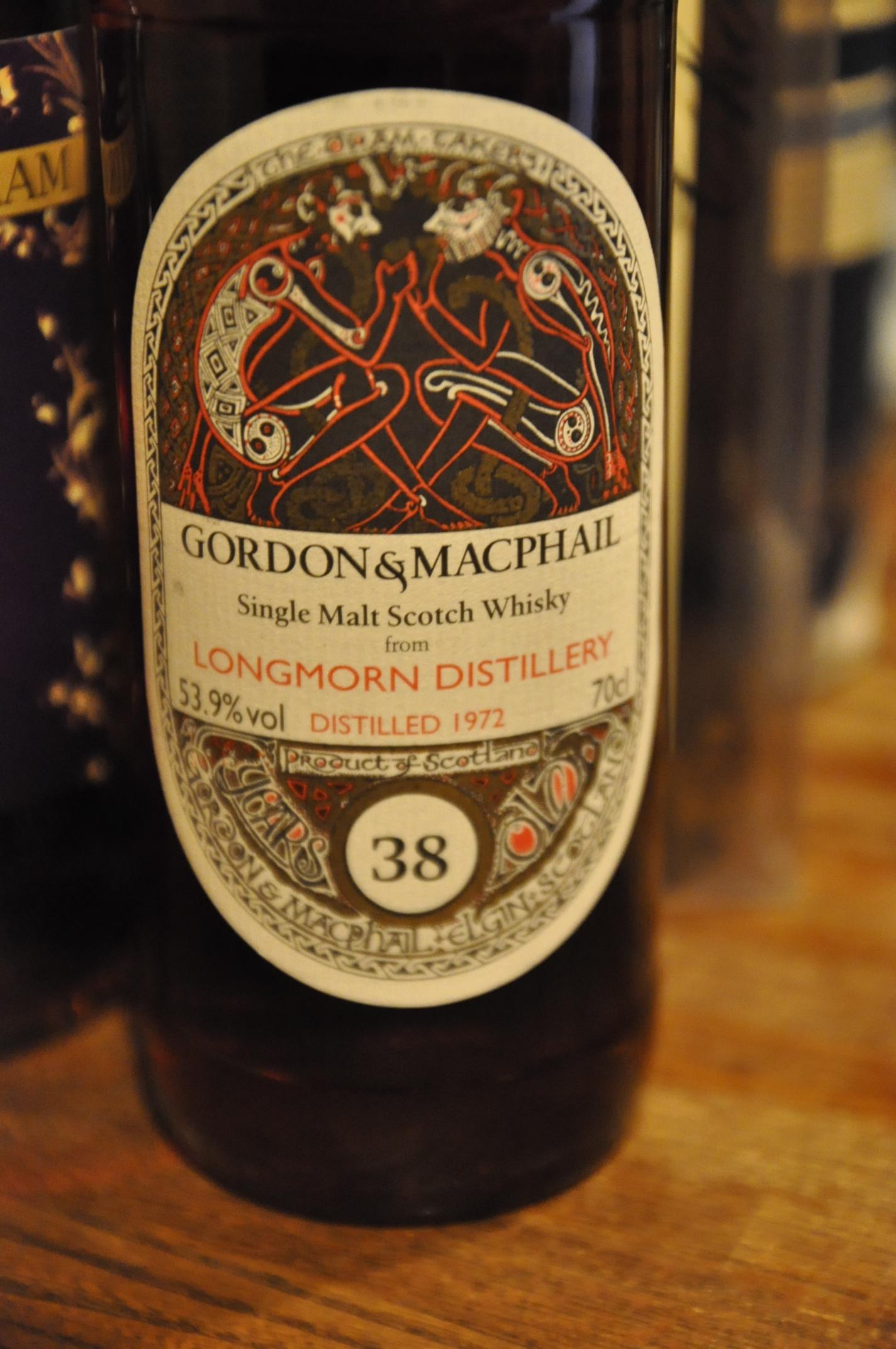 ロングモーン LONGMORN 38yo 1972/2011 (53.9%, Book of Kells , cask#1078 , 1st fill Sherry Butt, 356/410 Bts ,  Gordon & MacPhail  for JAPAN IMPORT SYSTEM)