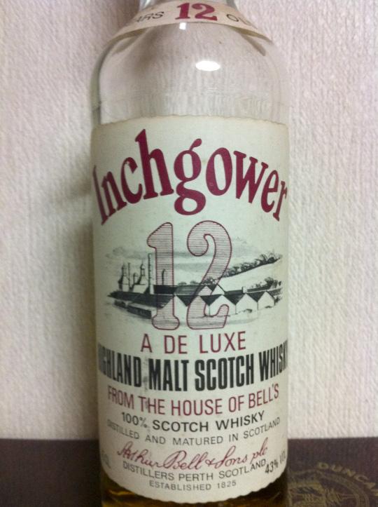 インチガワ Inchgower 12yo (43%, OB, Arthur Bell & Son, red cap, deluxe cream label) for Italbell.s.r.l.