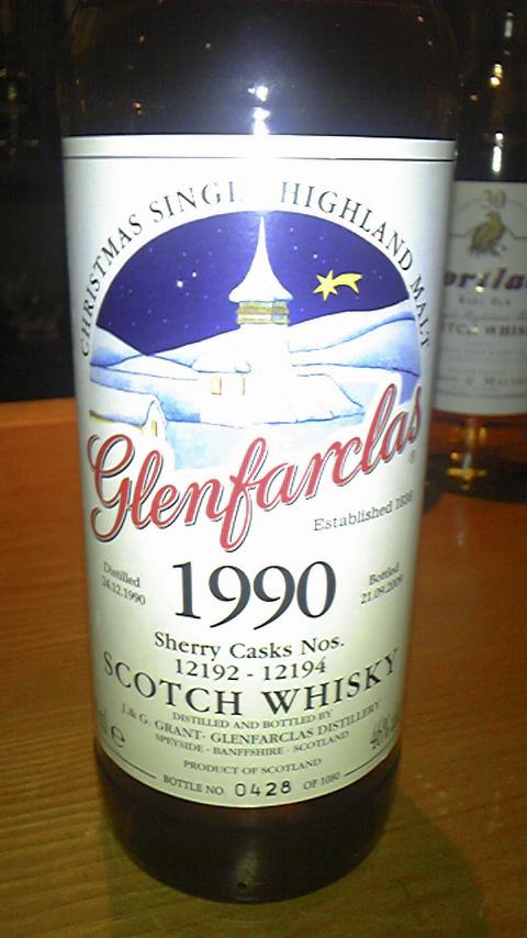 グレンファークラス Glenfarclas 1990/2009 (46%, OB, Christmas Single Highland Malt, Sherry cask) C#12192-12194   0428/1080 Bts