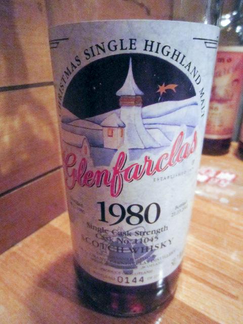 """グレンファークラス Glenfarclas 1980/2002 (50.7%, OB Christmas Edition, """"with BELL"""" C#11045, 144/229 Bts.) *1980.12.24-2002.03.21"""