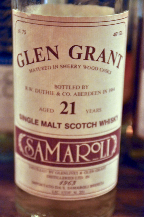 グレングラント Glen Grant 21yo 1963/1984 (46%, Duthie for Samaroli, 319/480 bts, 75CL) sherry wood cask