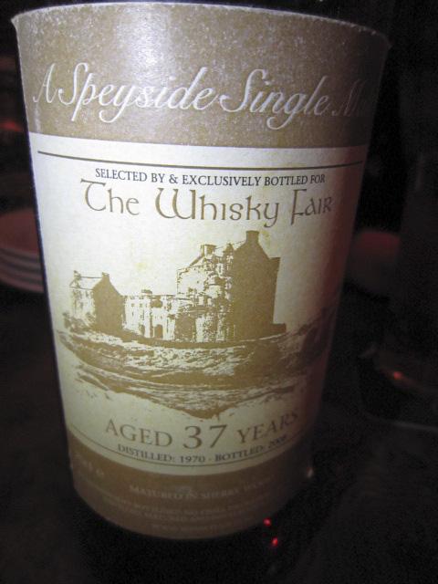 グレンファークラス Single Speyside Malt 37yo 1970/2008 (50.2%, The Whisky Fair)  シェリーウッド