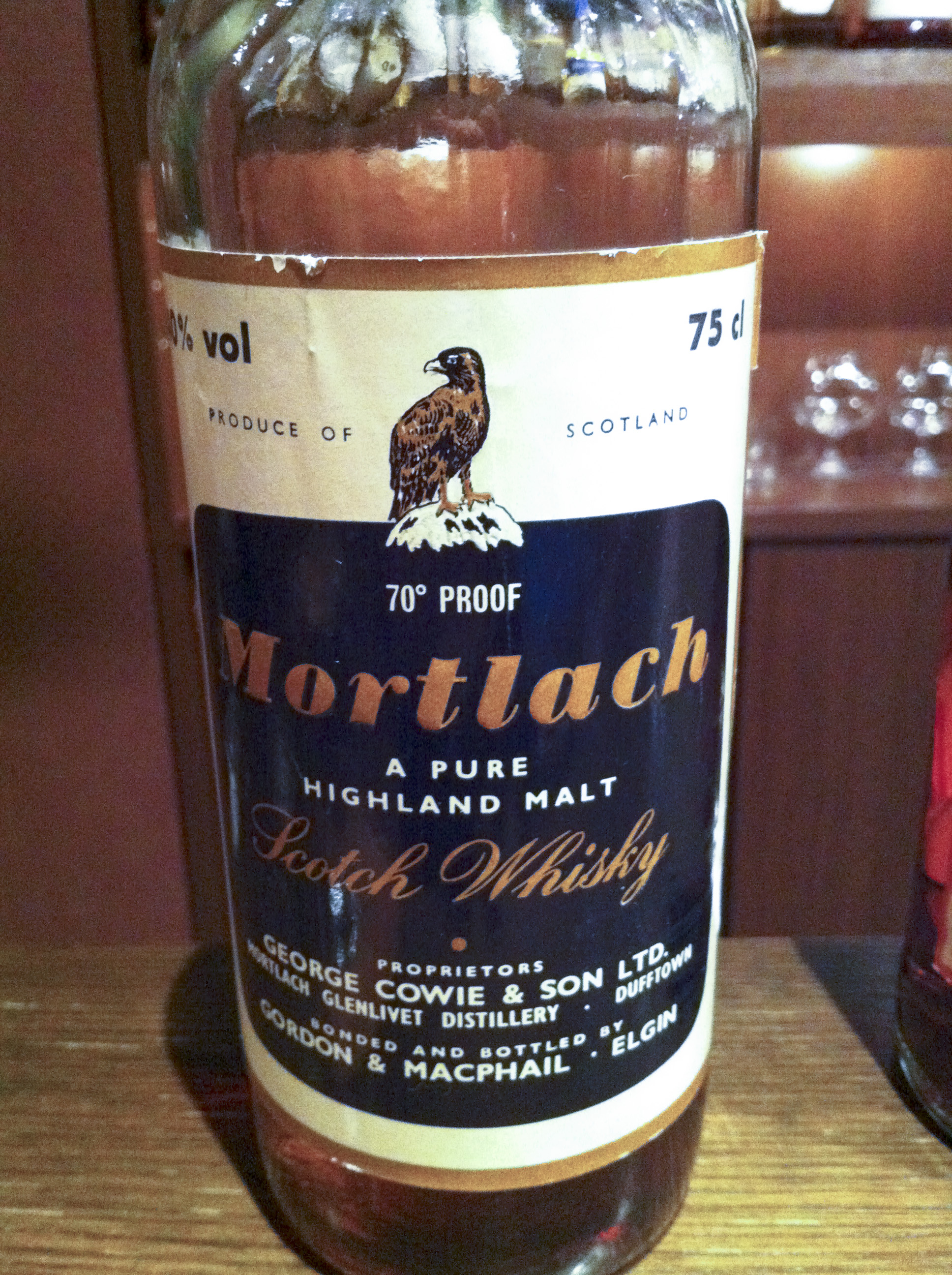 モートラック Mortlach 12yo (70Proof, G&M, Eagle Label, 1970's, 75cl)