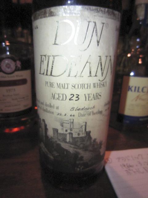ブラドノック Bladnoch 23yo 1966/1989 (50.8%, Dun Eideann for Donato Italy, C#1636) 1966.3.22.-1989.10 Btl No.158  75CL