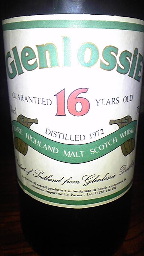 グレンロッシー Glenlossie 16yo 1972 (57.7%, Sestante, White Label with Green Letters, 75cl)
