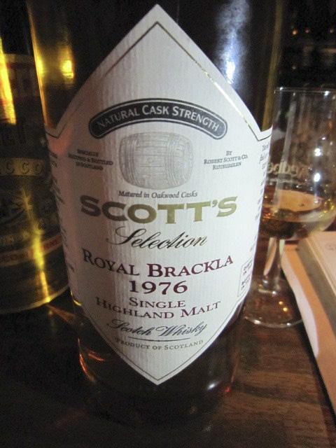 ロイヤルブラックラ Royal Brackla 1976/2003 (57.2%, Scott's, natural cask strength) 北米