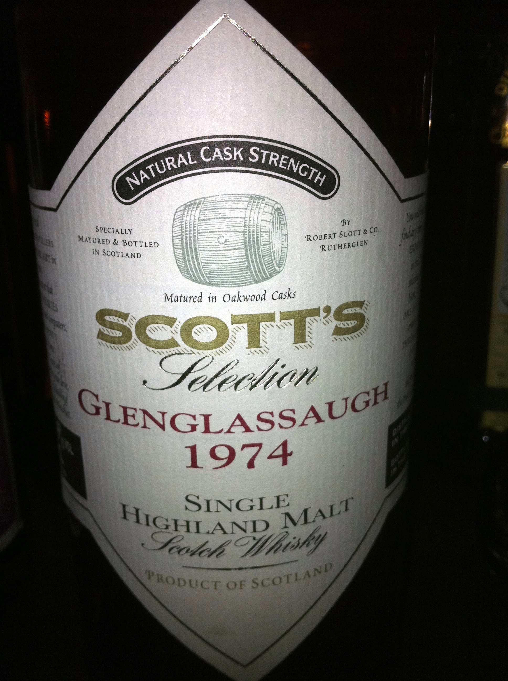 グレングラッソー Glenglassaugh 1974/1998 (55.9%,  Scott's, natural cask strength, 70cl) 日本向け