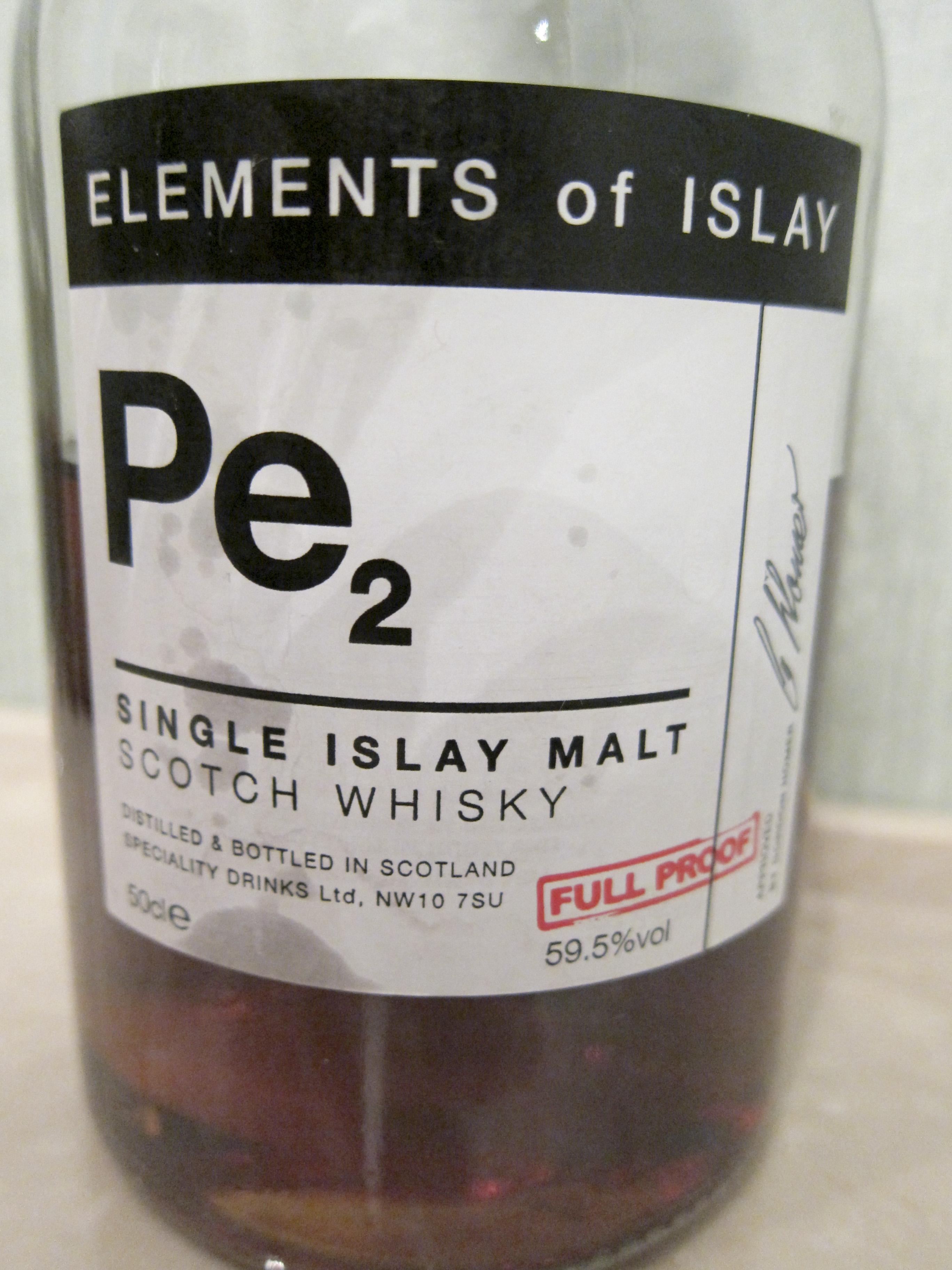 【BL/SC】ポートエレン Elements of Islay NAS 'PE2' (59.5%, Speciality Drinks Ltd, 'Port Ellen', 50cl)