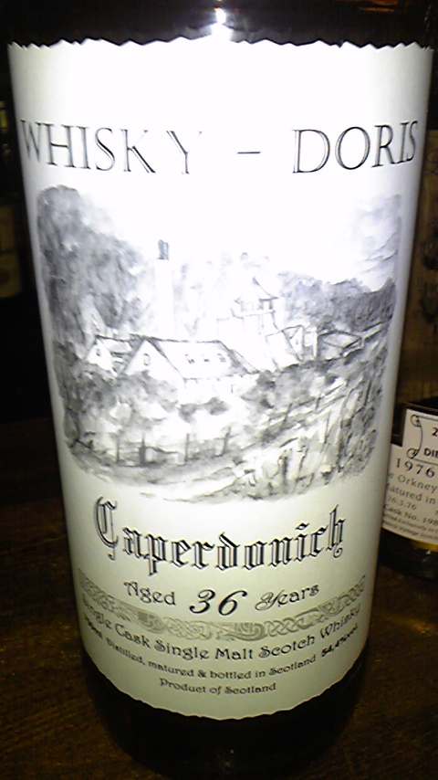 キャパドニック Caperdonich (Speyside) – Whisky-Doris 36 Jahre 1972 BemerkungBourbon Hogshead No.7425, nur 175 Flaschen Inhalt/Vol.0,7L / 54,4%