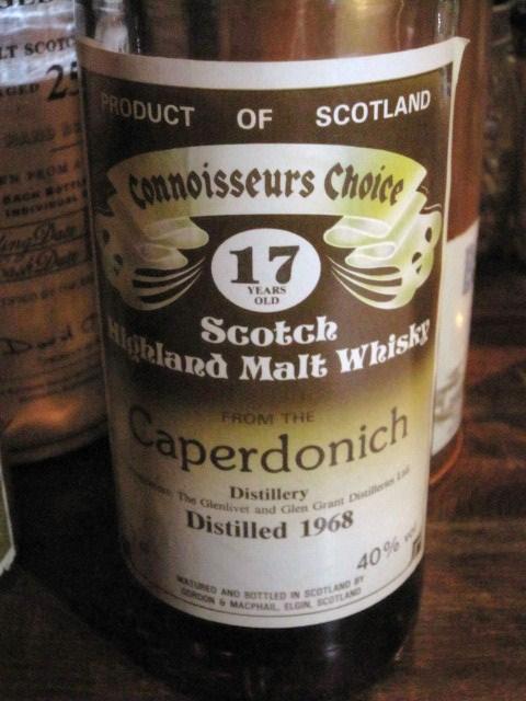 キャパドニック  Caperdonich 1968 (40%, G&M Connoisseurs Choice, Old Brown Label)