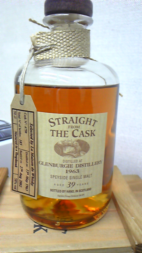 グレンバーギ Glenburgie 39yo 1963-2002 bottled by hand (58%, Signatory Straight from the Cask, c. #4750) Selected by LMdW 185本限定