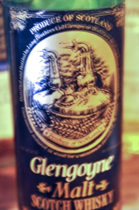 グレンゴイン Glengoyne 8yo (43%, OB, GNUDI/Giorgio Grulo Import Bologna, Black label, early 1980's, 75cl)