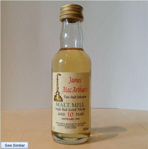 Malt Mill 1959 10yo ?? (46%, James MacArthur) ミニチュアがオークションに出品され議論紛糾