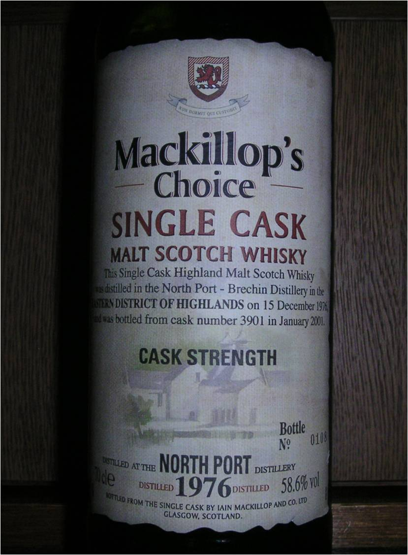 ノースポート NORTH PORT 1976-2001 24yo Mackillop's Choice #3901 58.6%