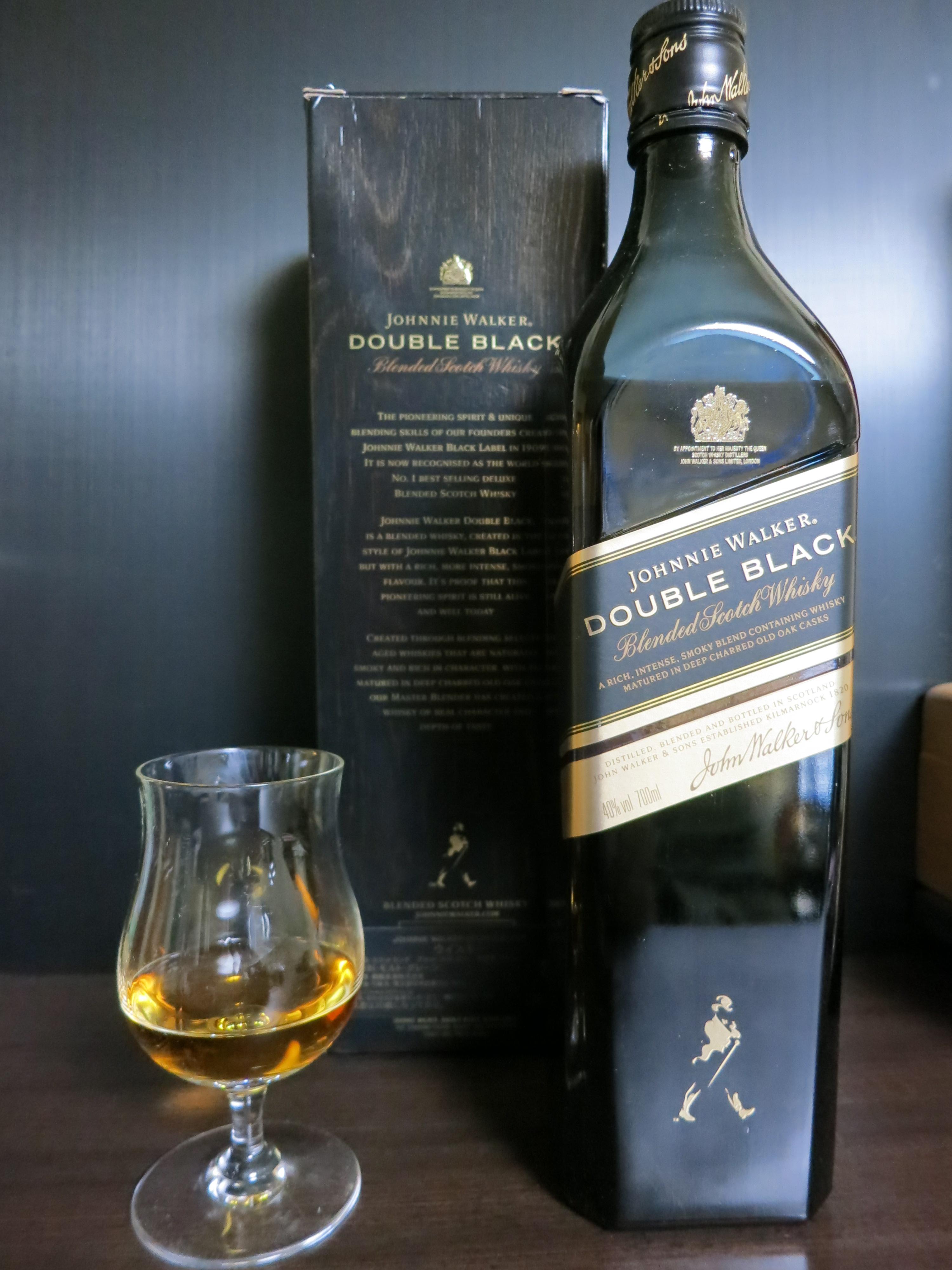 ジョニーウォーカー ダブル ブラック Johnnie Walker 'Double Black' (40%, OB, +/-2012)