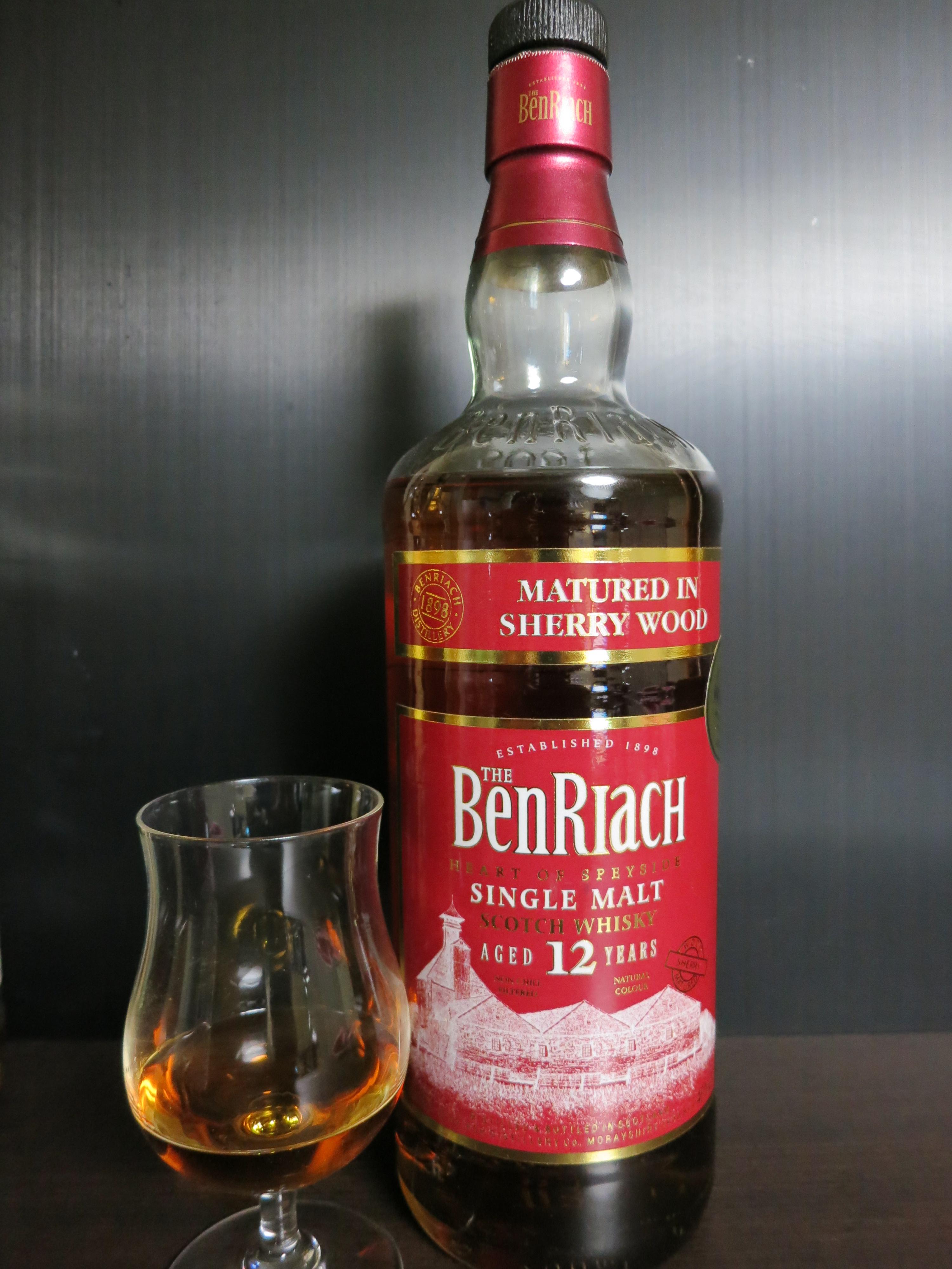 ベンリアック Benriach 12yo (46%, OB, sherry wood, 2009)