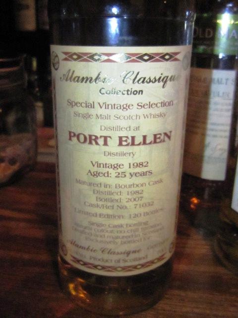 ポートエレン Port Ellen 25y 1982-2007 (51.1%, Alambic Classique, C#71032, 120 Bts.)  70CL  バーボンカスク