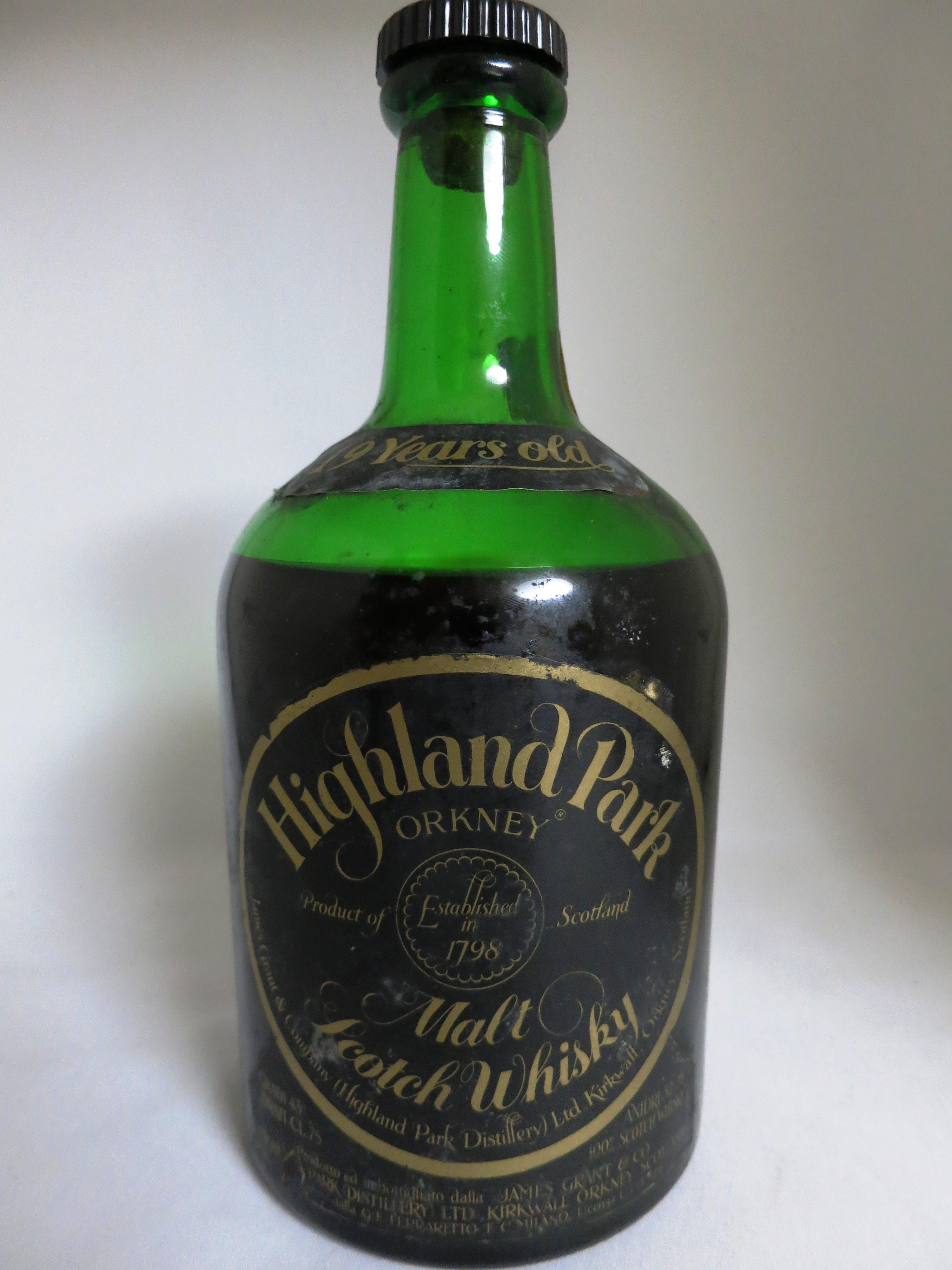 ハイランドパーク Highland Park 19yo  (43%, OB, James Grant, Green dumpy, black label, 75cl)