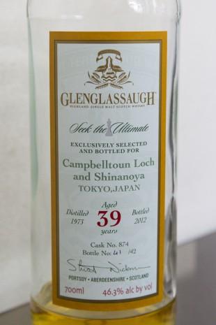 Glenglassaugh 39yo 1973/2012 (46.3%, OB, for CampbeltownLoch & Shinanoya, Hogshead, Cask# 874)