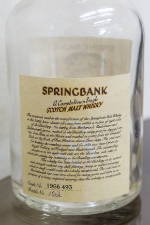 Springbank 1966/1998 'Local Barley' (51.2%, OB, Cask# 1966 493)