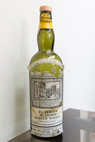 St. James's Blended Scotch (91.4 proof, Berry Bros & Co., for USA, The Buckingham Corporation, N.Y., 4/5 quart, 1930′s)