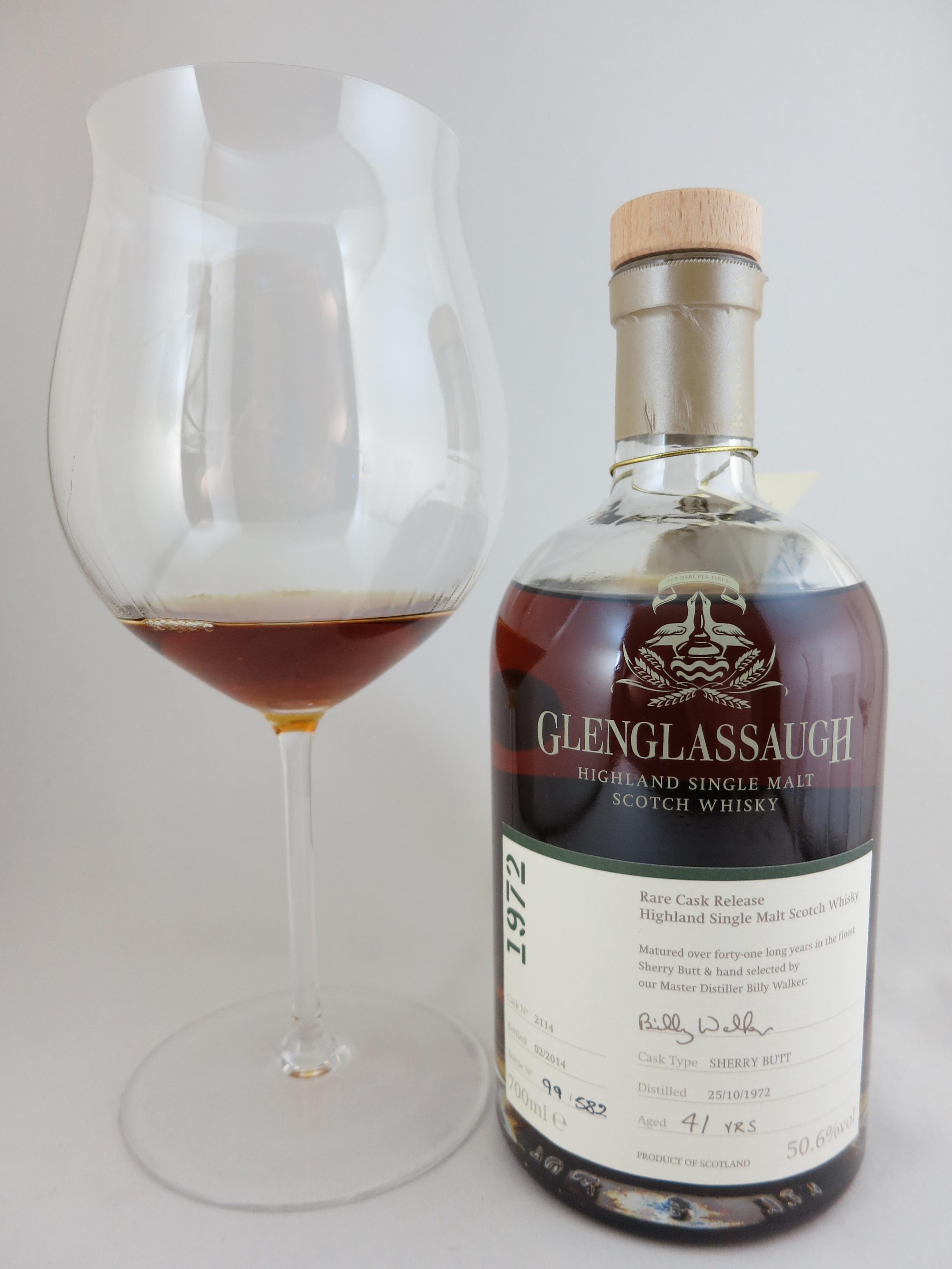 グレングラッサ Glenglassaugh 41yo 1972/2014 (50.6%, OB, Rare Cask Releases Batch 1, C#2114, Matured in the finest Sherry Butt)