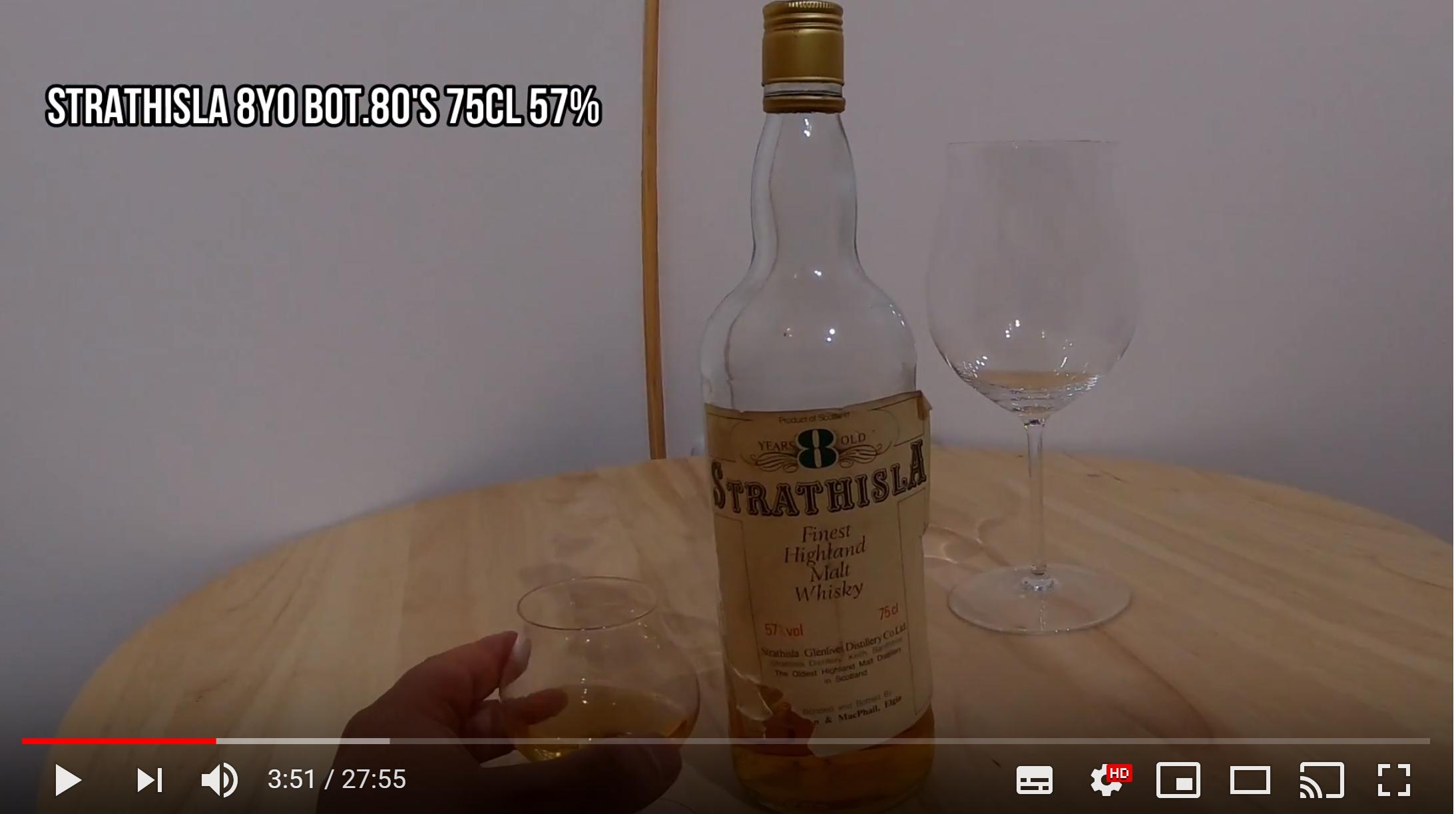 [Whisky Vlog] STRATHISLA 8yo G&M Bot 80's 75cl 57% [ストラスアイラ]