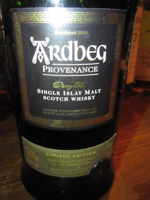 """アードベッグ Ardbeg 1974 """"Provenance"""" (55.6%, OB, B18/11/""""97, Europe)"""